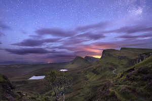 Quiraing view at night