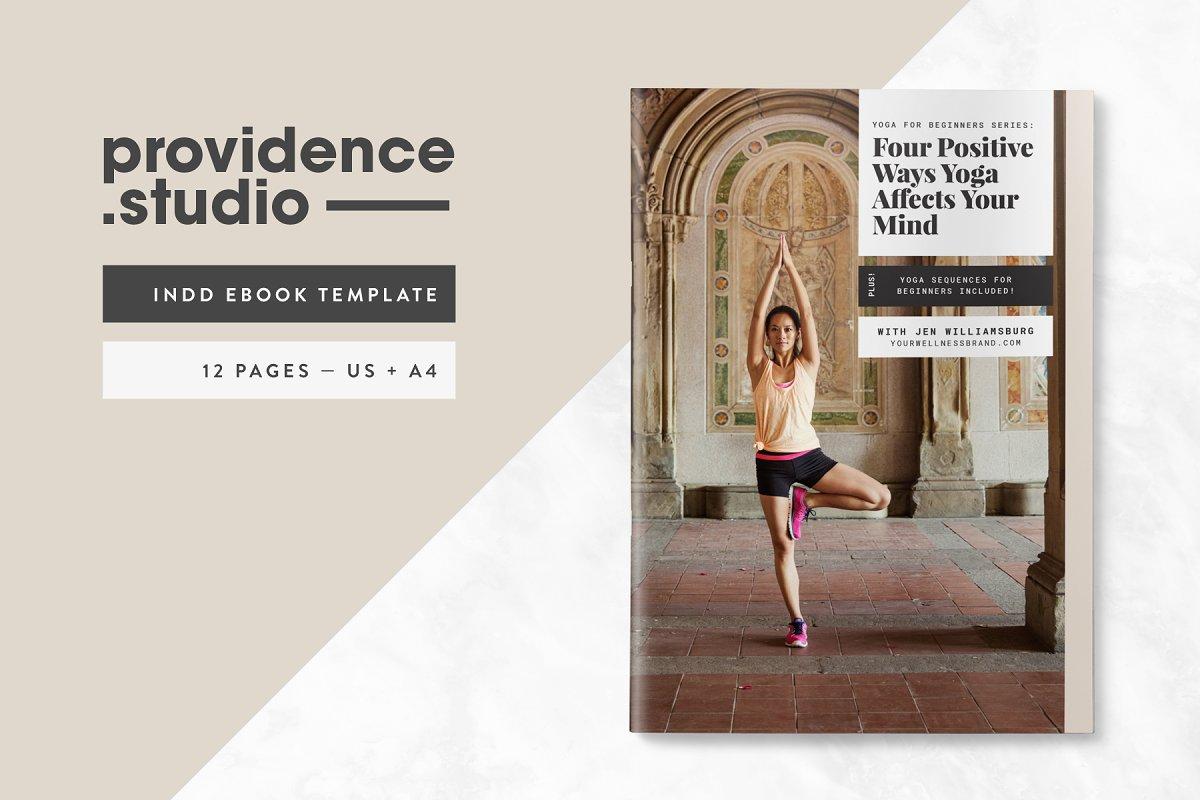 e5df8ed649543 Yoga Modern Ebook Template ~ Magazine Templates ~ Creative Market