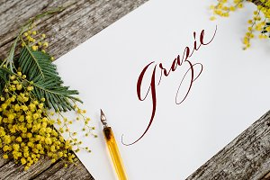 Grazie - Custom Hand-lettering