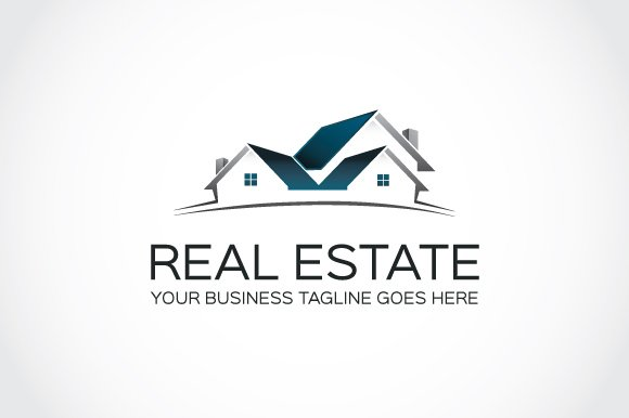 Real estate logo template logo templates creative market for Design company usa