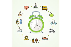 Daily Routines Concept Healthy Life