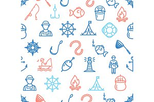 Fishing Sport Pattern Background