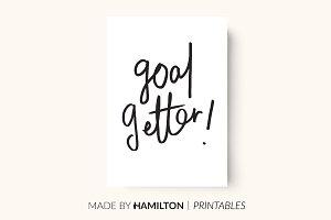 Goal Getter Print / Planner Insert