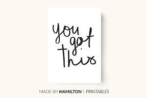 You Got This Print / Planner Insert