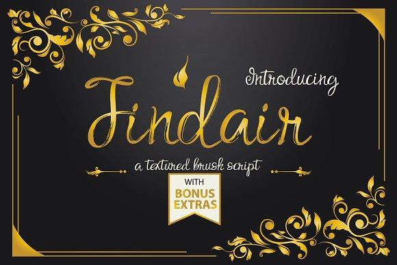 Findair Script Brush Font