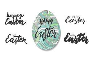 Easter lettering set