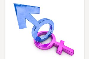 Gender symbols of man and woman.