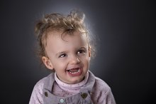 Two years girl laughing