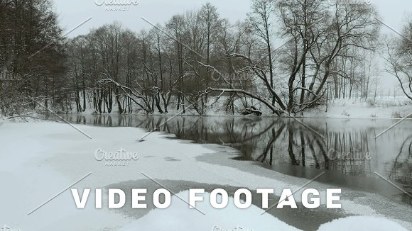 River In The Winter Used Professional Gimbal Stabilazer