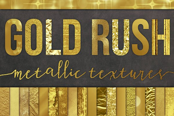 28 Gold Foil Textures / Backgrounds