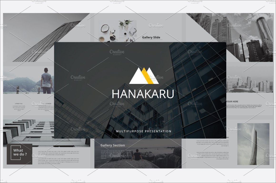 jeumpa minimal powerpoint presentation templates on creative market hanakaru powerpoint template