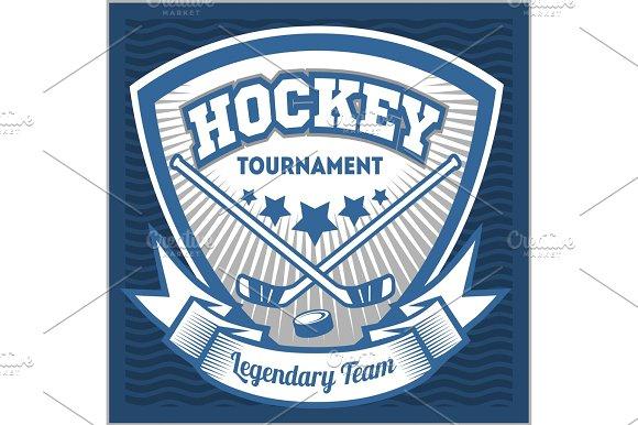 Hockey Team Logo Template Emblem Logotype Template T Shirt