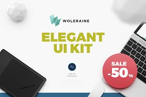 50% OFF. Woleraine UI Kit