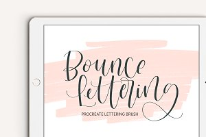 Bounce Lettering Procreate Brush