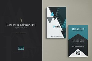 Corporate Business Card - geometric