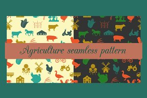 Pattern on agriculture theme