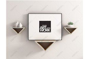 Frame Mockup Triangle Shelves