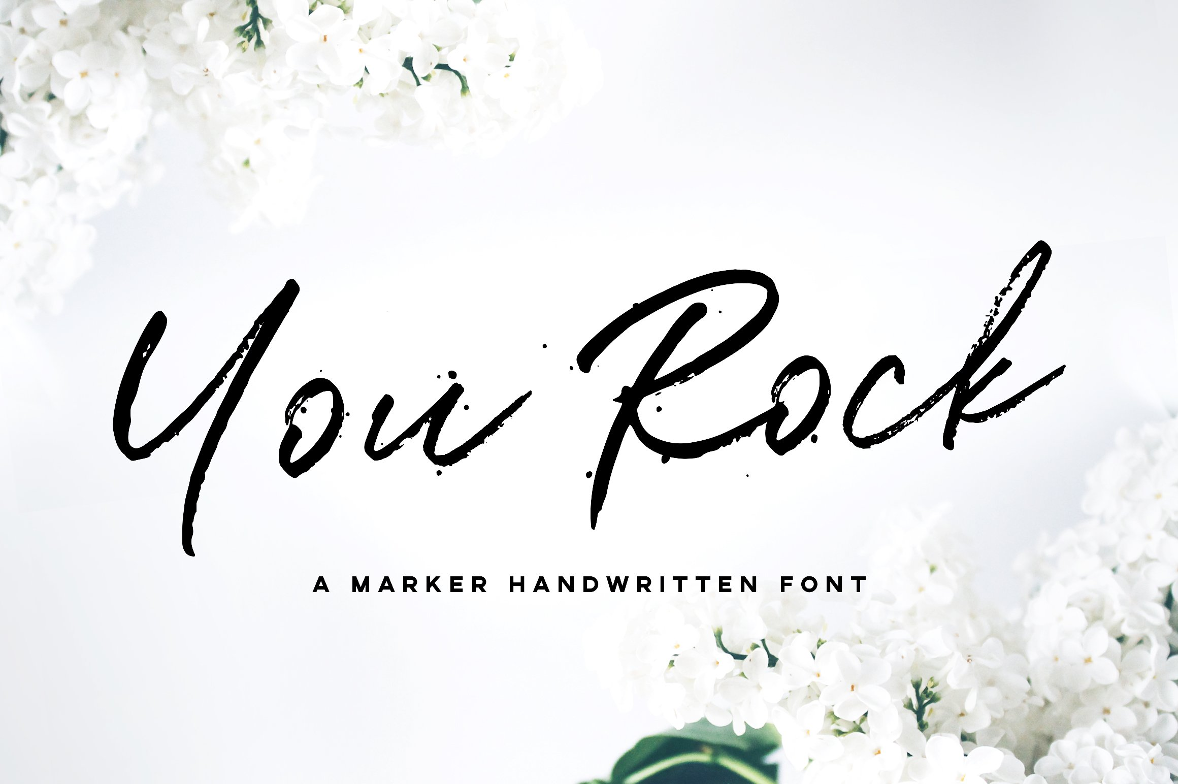 You rock handwritten font script fonts creative market