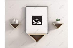 Frame Mockup Triangle Floating
