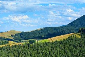 Summer Carpathian Mountains.