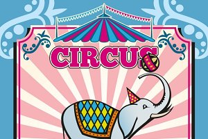 Circus carnival color template