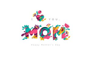 I love you, mom greeting card