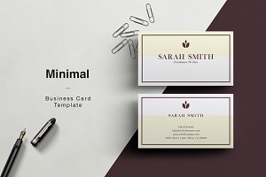 SARAH - Minimal Business Card