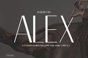 Alex Sans Serif 9 Font Family