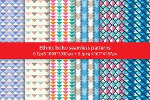 Ethnic boho seamless patterns