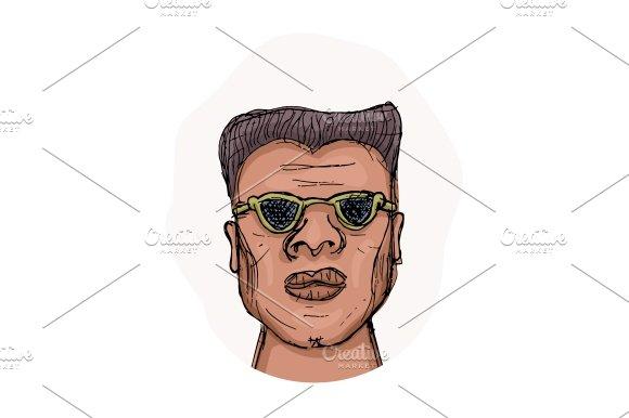 Afro-american Man Vector Avatar