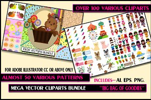 Mega Vector Cliparts Bundle