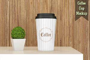 Paper Coffee Cup Mockup V2