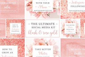 Pink Rose Gold Social Media Template