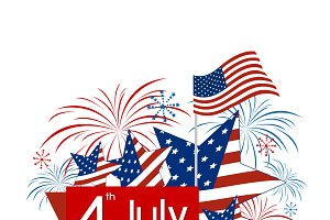 USA 4 july independence day design