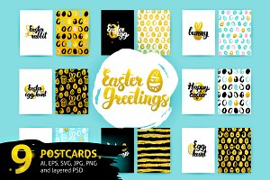 Easter Lettering Postcards