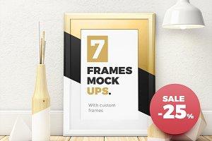 -25% Sale. Frames Mockups