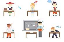 School. Boys and girls