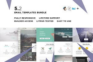 5 Email templates bundle II