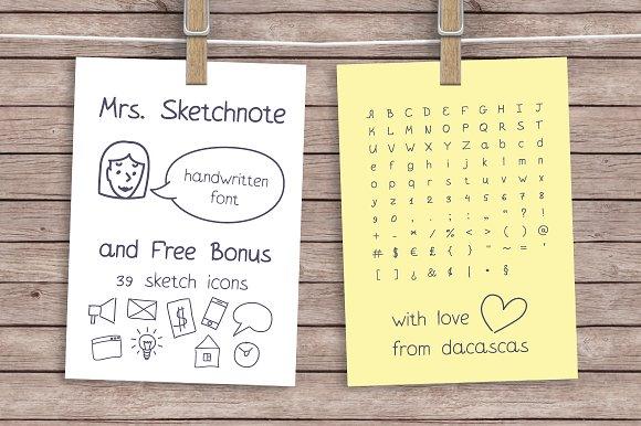 Mrs Sketchnote Handwritten Font