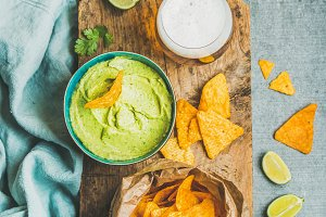 Mexican corn chips & wheat beer