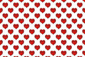 Seamless Pattern Heart Shape Drawing