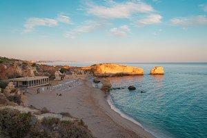 Beach in Algarve coast, summertime