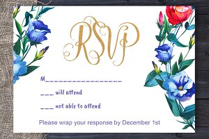 Eustoma Wedding RSVP DiY