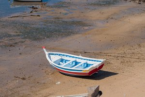 Fisher boats in the beach, Ferragudo