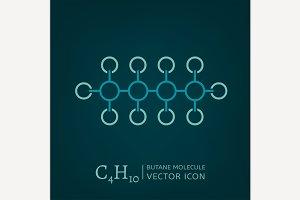 Butane Molecule Icon