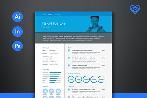 Material Resume Blue