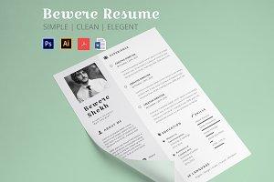 Beware Resume | Resume Template