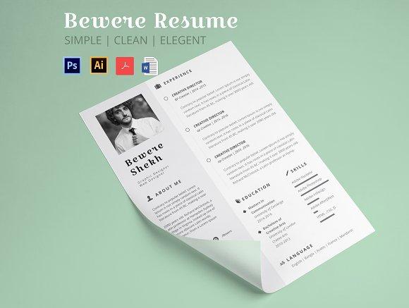 Beware Resume Resume Template
