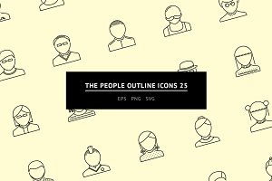 The People Outline Icons 25