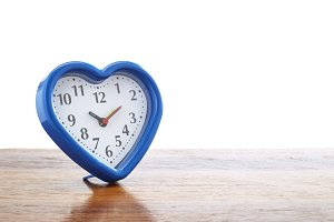 Blue heart alarm clock
